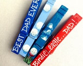 BEST DAD EVER clothespin painted magnet golfer dad birdie eagle golf ball fathers day