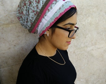 hair wrap,jewish,headcover,oshrat designs,chemo head scarves,tichel apron,chemo head covering