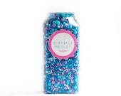 Mermaid Magic Sprinkle Medley, Beachy Sprinkles, Frozen Colors Sprinkles, Pastel Sprinkles, Turquoise Sprinkles, Sprinkle Mix -- MED (8 oz )