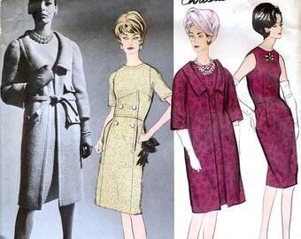 Vogue Paris Original 1249 Vintage 60s Sewing Pattern by Christian Dior for Misses' Dress and Coat - Uncut - Size 12 - Bust 32