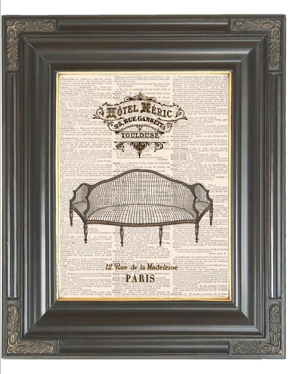French Decor Print On Dictionary Coupon Sale By Bmarinacci On Etsy