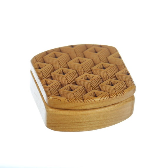 Depth Pattern Wooden Box, Solid Cherry, Pattern MS2, Paul Szewc, Masterpiece Laser