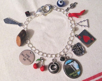 The Great Northern Custom Charm Bracelet, inspired by Twin Peaks, w/ YOUR CHOICE of up to 12 additional charms. Chose from over 100 charms!