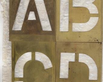 6 inch Stencil Letter Alphabet Brass Stencil Including Ampersand