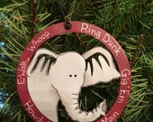 Elephant Walk Texas Aggie wooden ornament - personalized for free