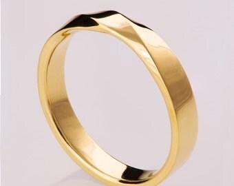 Mobius Ring - 14k Gold Ring , Wedding Ring , Gold Wedding Ring , Wedding Band, Twisted wedding band