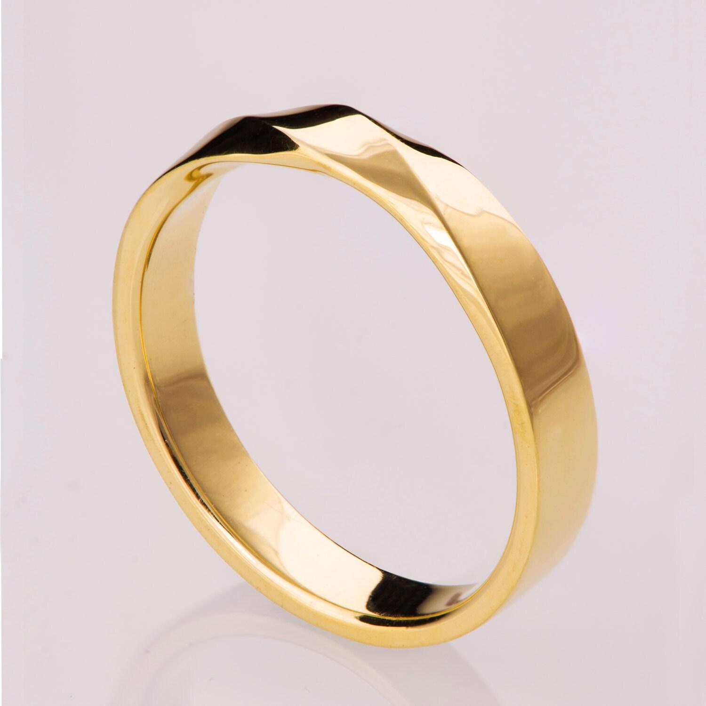 mobius ring 14k gold ring wedding ring gold wedding ring