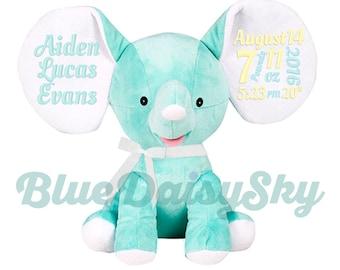 Adorable Personalized Stuffed Animal New Baby Boy Girl Mint