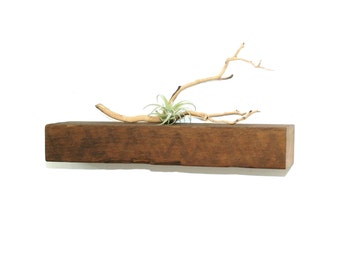 "Reclaimed wood floating shelf - 25"""