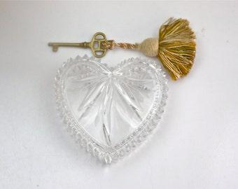 Wedgwood Heart Shaped Box / Classic English Crystal / Romantic Gift Idea / c1980s