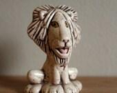 Midcentury Lion Ceramic Figurine