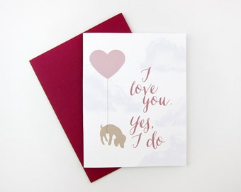 I Love You, Yes I Do (Puppy): Love / Anniversary Card