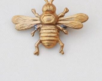 Bee Brooch,Brass Brooch, Animal Pin Badge , Bridal Bridesmaid,Summer