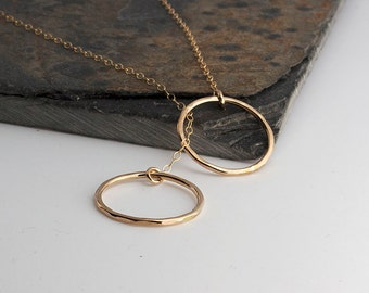 Double Eternity Necklace,Karma Necklace,Minimalist Jewelry,Dainty Necklace,Handmade Necklace,Sterling Silver,Gold Necklace,Bridesmaid Gift