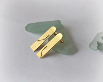 Shadow Earrings- Handmade Gold Plated- Free Shipping Worldwide