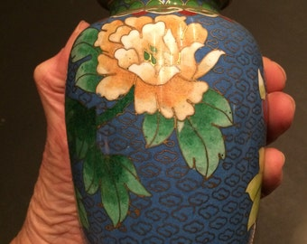 Cloisonne covered vase