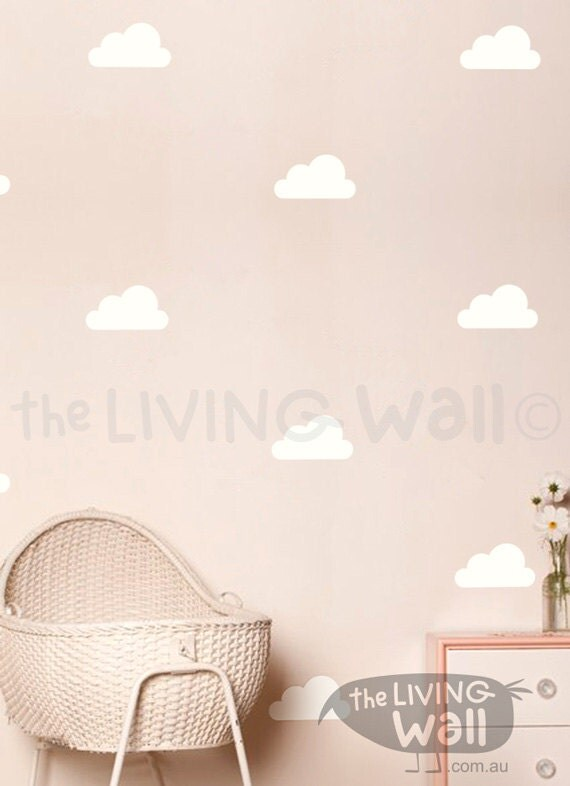 Cloud wall decals for nursery ~ Color the walls of your house