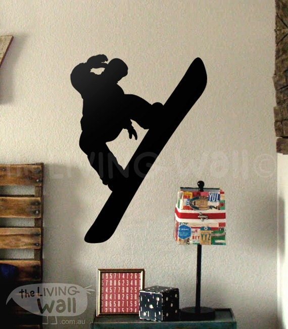 Snowboard wall decal snowboard wall decor for bedroom for Snowboard decor
