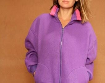 90s COLOR BLOCK black womens SKI fleece patagonia style Jacket