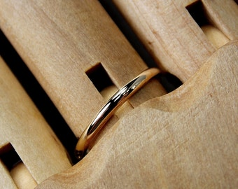 Size 7 Ultra-Slim 14K Yellow Gold Band, Ready To Ship