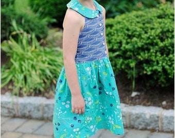 Felicity Dress PDF Pattern: Girls Dress Pattern, Baby Dress Pattern, Halter Dress