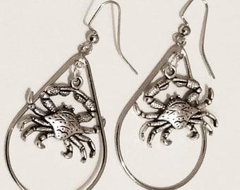 New Orleans Crab Earrings
