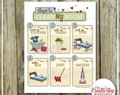 Clean My Room Chart | Blue Theme | Cleaning Chart | Printable Chore Chart | Boy Theme | Clean Room Chart | Instant Download