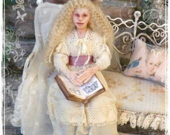GEORGINA Victorian Lazy Girls Collection 1:12 dollhouse doll by Soraya Merino