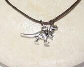 Dinosaur Bracelet or Anklet in Silver, Tyrannosaurus Rex,  Prehistoric Animal, Gift For Scientist, Paleontologist Gift, Jurassic Jewelry