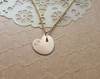 Personalised Little Sloth Necklace