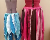 ANY COLOUR Belly Dance Petal Renaissance Fairy Faerie Gypsy Tattered Skirt