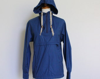 Vintage Eddie Bauer Anorak Windbreaker Jacket Blue // Eddie Bauer Jacket // Mens Small Womens Medium