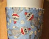 Sock Monkey Felt Cup Cozy