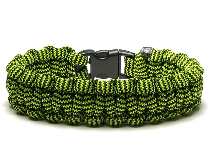 Paracord Bracelet Bumble Bee Black Yellow Stripes Survival Accessory Hunting Outdoors Camping Nature Lover Jewelry Hiker Gear Military Rope