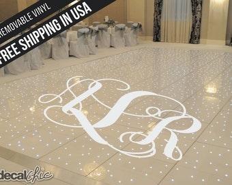 Dance floor decal etsy for Wedding dance floor size