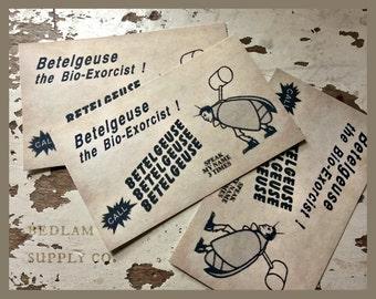 Beetlejuice Business Card Replica Set of 6