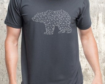 Men's T-Shirt - Bear Made of Triangles - American Apparel - Available in S, M, L, XL and 2XL