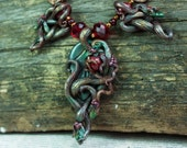 Elven Necklace Statement Necklace Botanical Wedding Polymer Clay Elvish Fairy Faerie Celtic Knot Woodland LOTR Jewelry Lord Rings Pagan