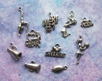 Cheerleading Charm Collection in Silver Tone - C2322