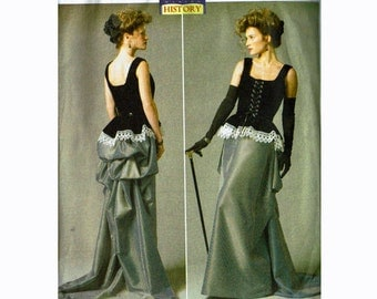 Corset & Skirt with Bustle Uncut Making History Sewing Pattern Butterick 5969 Steampunk Size Combinations 6 8 10 12 14 or 14 16 18 20 22