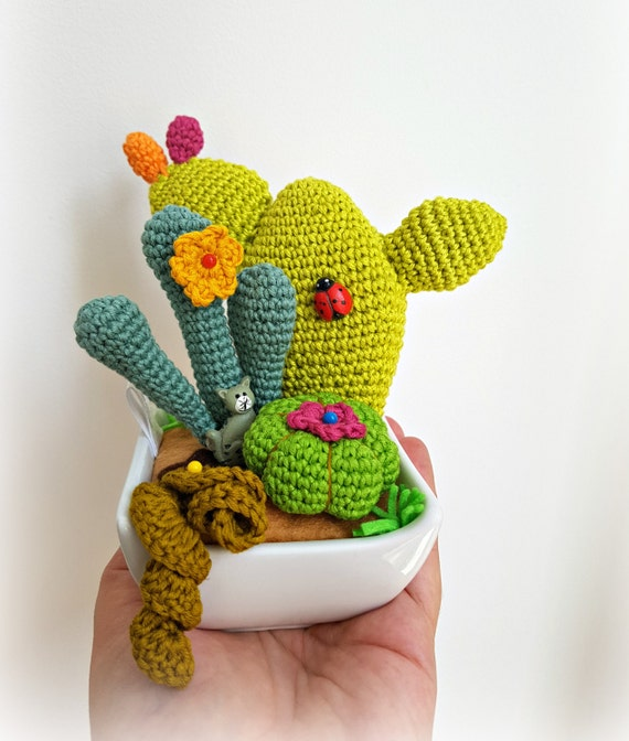 Amigurumi Cacti crocheted cacti and succulents Four