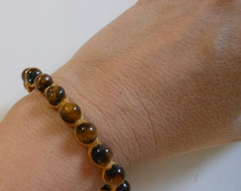 Hand Knotted Hemp and Tiger Eye Bead Bracelet