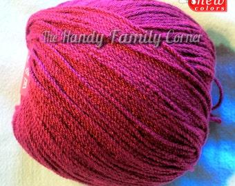 Viscose Stretch - elastic (resilient) yarn. Spandex, Stretchy yarn, cyclamen color (363). Lycra yarn.
