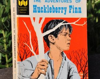 The Adventures of Huckleberry Finn by Mark Twain Scholastic Library 1962