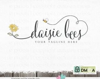 Photography Logos bee logo Premade Logo Designs flower Logo daisy logo logos and Watermarks logos for photographers hand drawn sewing logos