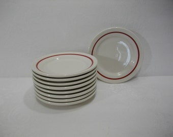 Homer Laughlin Restaurant China Saucers / Vintage Restaurant China / Restaurant Ware / Vintage Homer Laughlin Best China USA Dishes