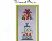 NEW Vivement Pâques : Jardin Privé Easter french counted cross stitch patterns Spring tree garden Nathalie Cichon embroidery