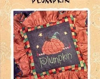 Plumpkin : Lizzie Kate Snippit S18 counted cross stitch pattern Halloween October witch pumpkin hand embroidery