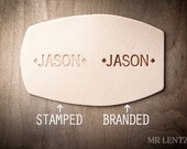 Name or Initials Stamped or Branded, Personalization, Monogram, Engraving, Custom initials