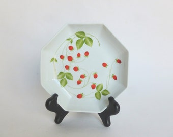 Lachaniette Limoges Strawberries Porcelain Bowl